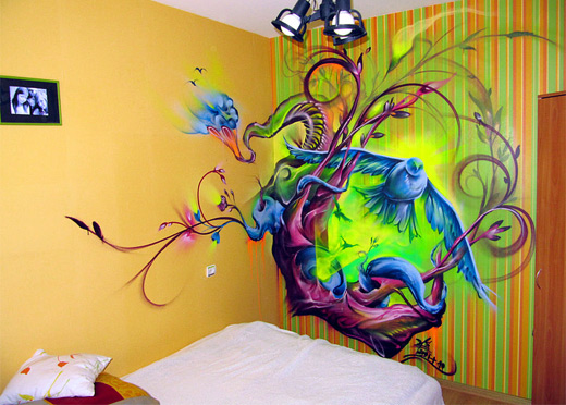 Bedroom graffiti artworks collection