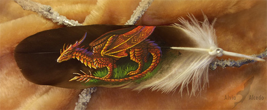Dragon feather painting
