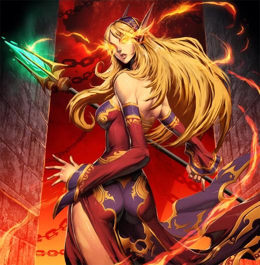 Fire mage world of warcraft illustration artworks