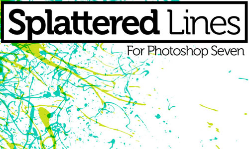 Splatter Line PS Brushes