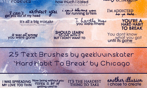 Text Brushes - Chicago Lyrics