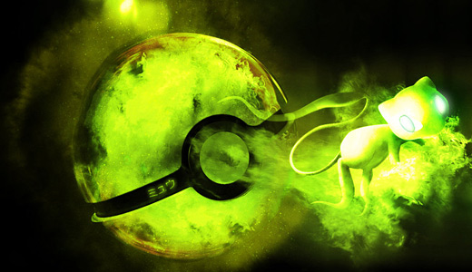 Green mew pokeball designs wallpapers free download