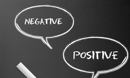 Convert negative thoughts to positive ones