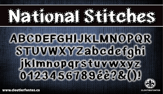 Nice stitch fonts free download