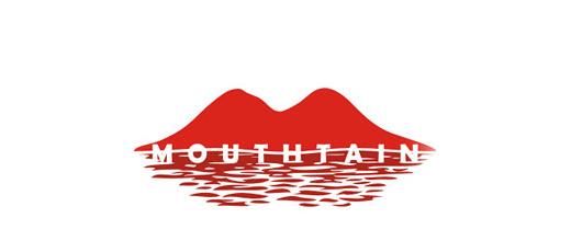 Red mountain logo design collection