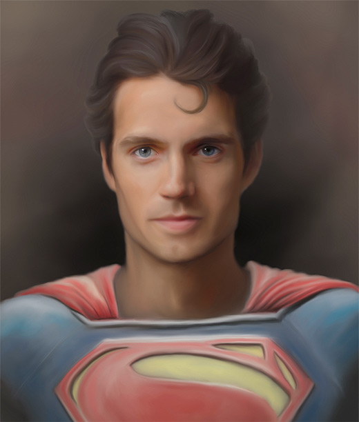 Speed painting superman man of steel fan art illustration artworks