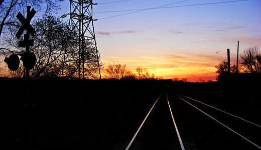 Sunset silhouette railroad free download wallpapers