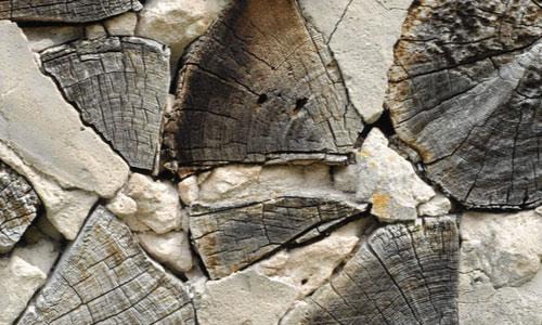 Split logs texture