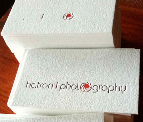100% Cotton Letterpress Business Card