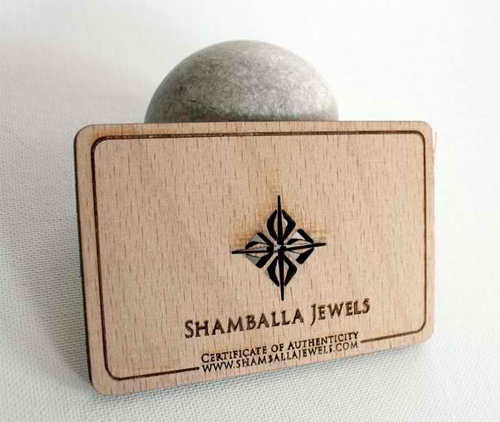Shamballa Jewels business card
