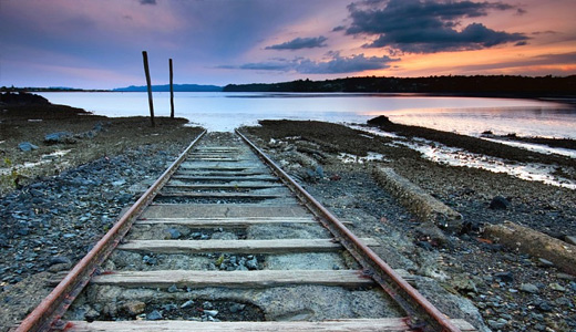Seaside dead end railroad free download wallpapers