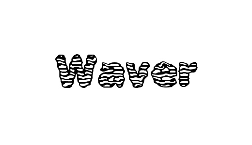 Wavy lines stitch fonts free download
