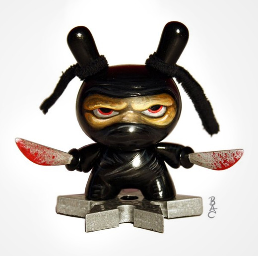 Black ninja dunny vinyl toys design