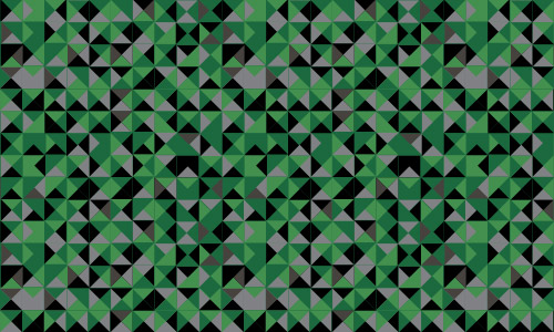 green small triangle pattern