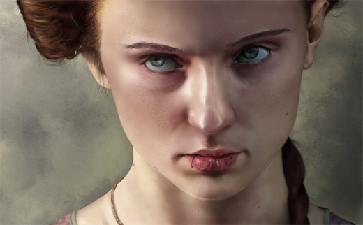 Sansa stark game of thrones illustration artworks