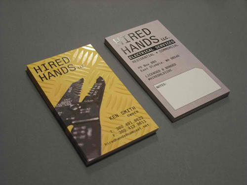 Hired Hands, LLC Business Card