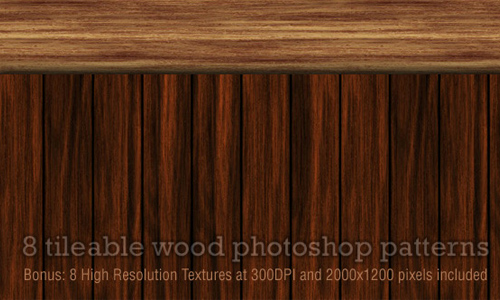 Seamless Wood Patterns for PS