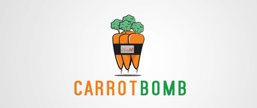 Bomb carrot logo design collection