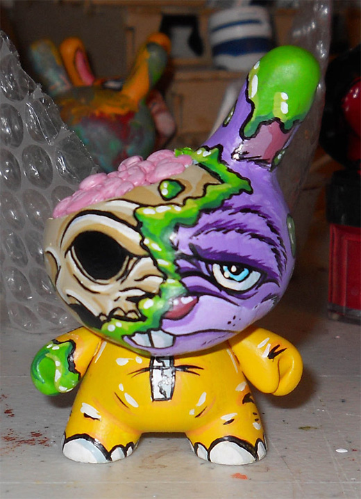 Acid brain dunny vinyl toys design