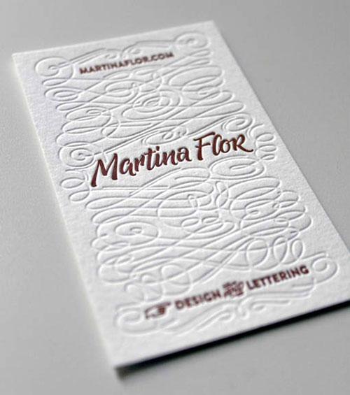 Brush Lettering Business Card