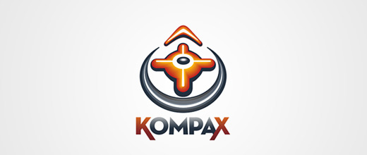 Orange compass logo design collection