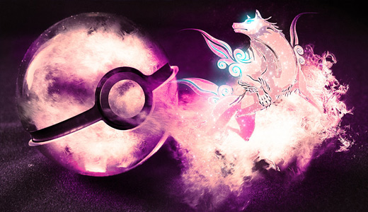 Pink okami pokeball designs wallpapers free download