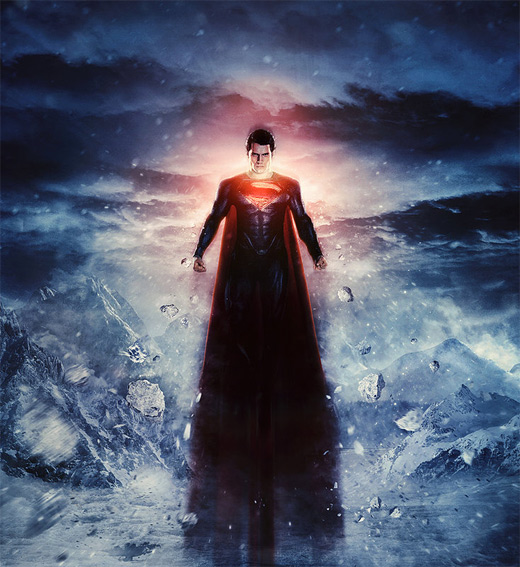 Poster superman man of steel fan art illustration artworks