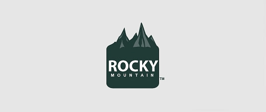 Rocky brown rocks mountain logo design collection