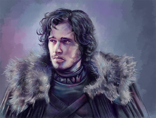Jon snow painting game of thrones illustration artworks