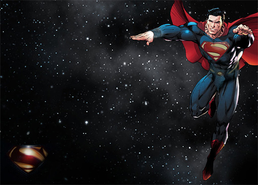 Lighting superman man of steel fan art illustration artworks
