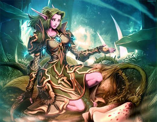 Nature mage elemental world of warcraft illustration artworks