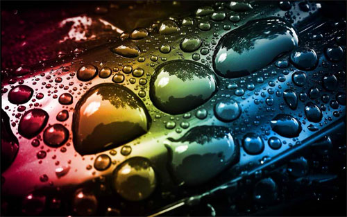Rainbow Drops wallpaper