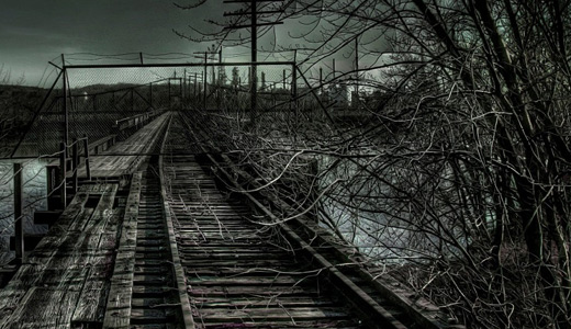 Old scary creepy railroad free download wallpapers