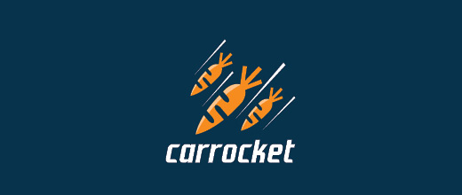 Missile rocket carrot logo design collection