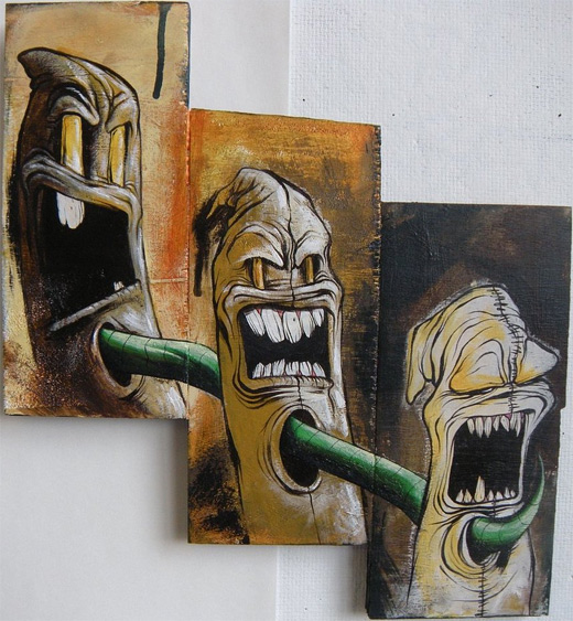 Scream characters graffiti artworks collection