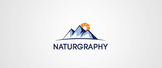 Sun nature mountain logo design collection