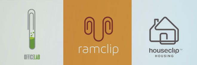 30 Simple Yet Creative Paper Clip Logo Designs