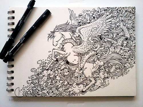 Moleskin Doodles: Winged