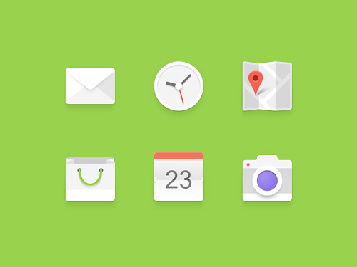 Android Set Flat Icon