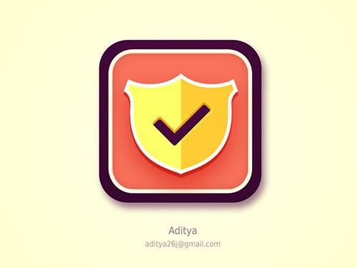 Shield Flat iOS App Icon