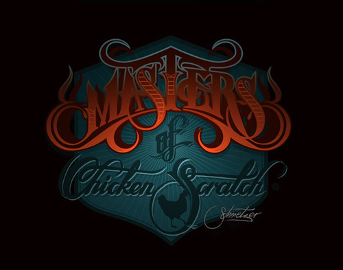 Dark master chicken scratch martin schmetzer typography design artworks
