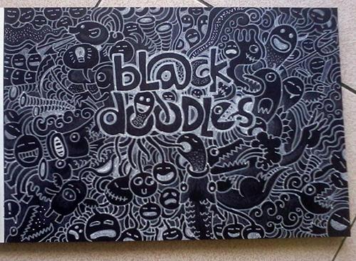 Black Doodles Sketchbook