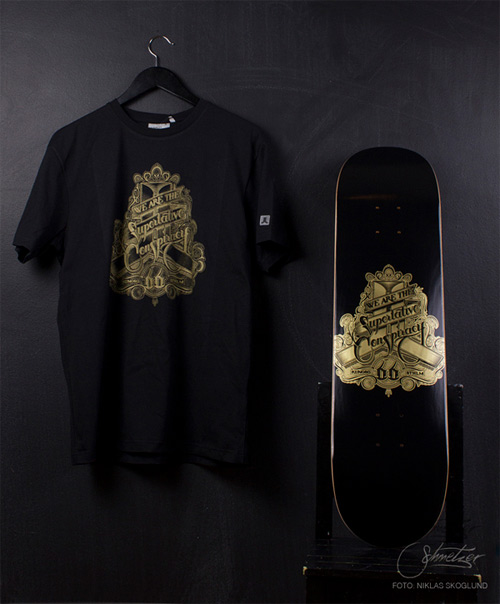 superlative conspiracy t-shirt skateboard print