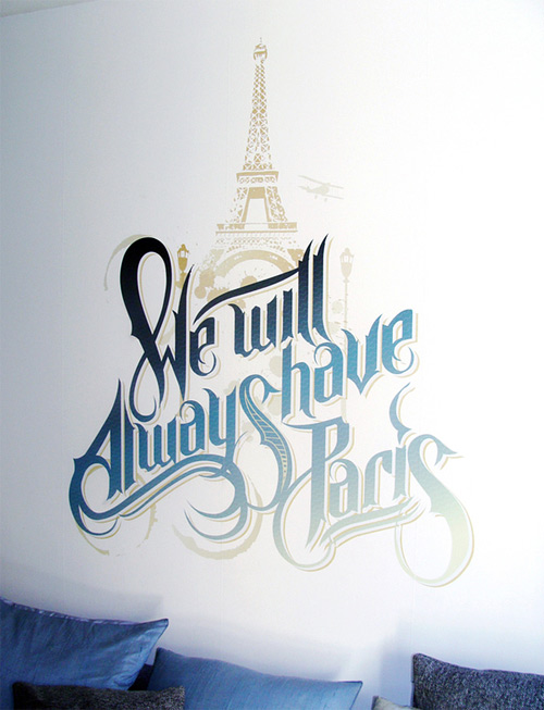 paris martin schmetzer typography wall