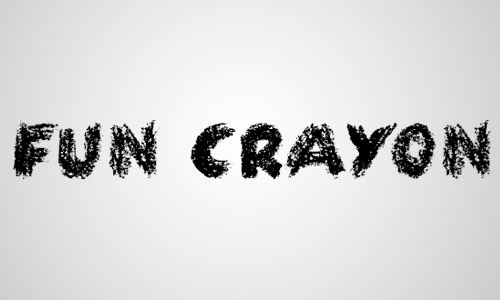 free fun crayon fonts