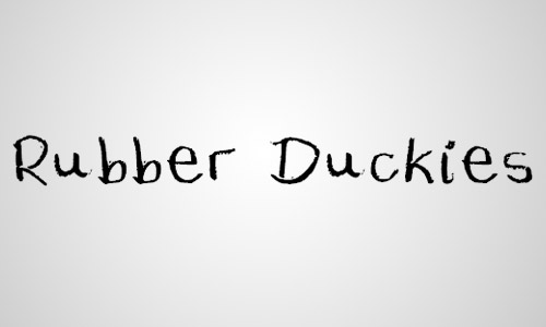 rubber duckies free chalk fonts