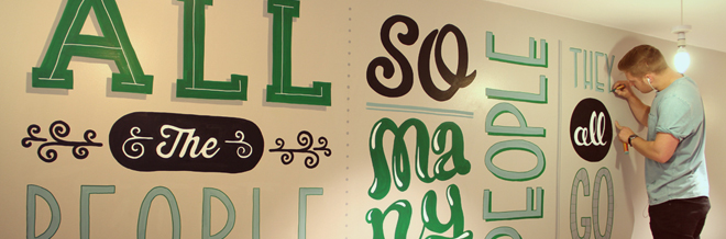 Interview with Tobias Hall on His Notable Murals and Letterings