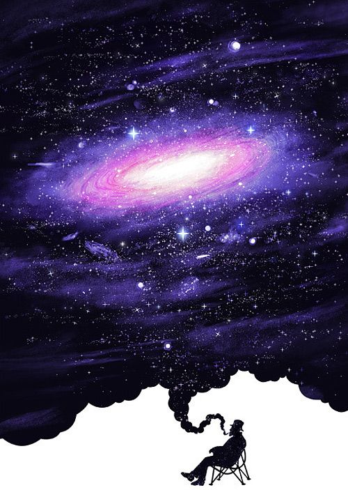Nostalgia space universe negative space