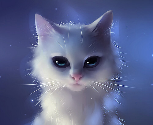 White cat apoffis illustration