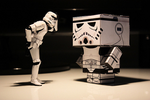 Box stormtrooper photogprahy